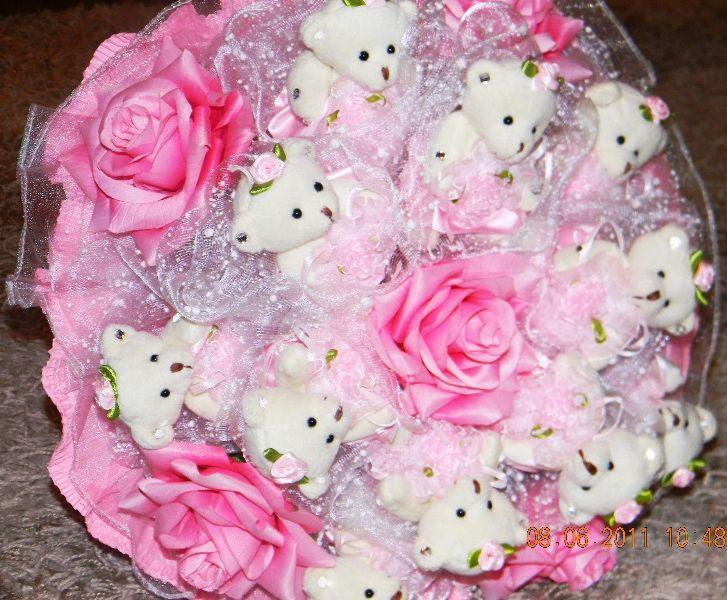 Цветы с мишками